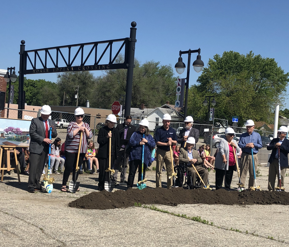 Image of Noto breaking ground.