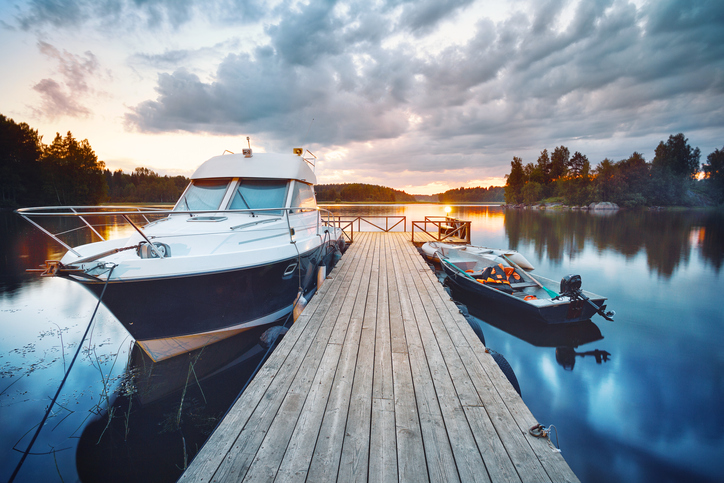 Image of two boats at a dock.